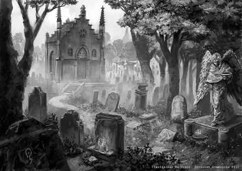 Friedhof by Odysseusart