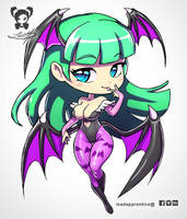 Morrigan Chibi by LeadApprentice
