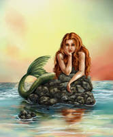 Mermaid reflections by isisandwolf