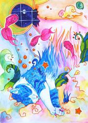 The Cat's Dream by ArcanePrayer