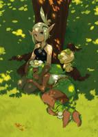 Evangelyne and Amalia by kosal