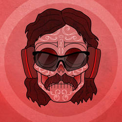 Dr Disrespect DayoftheDead Skull by someofthathomegrown