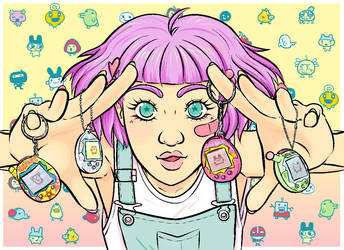 Tamagotchi Girl ! by Toniic