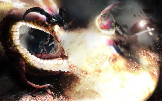 Zelda OoT - Boss fire temple by CharlieRomeo