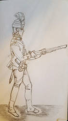 sketch of a Rev. War soldier by Tiggidou