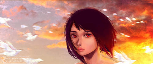 Burning Sky by CharmaineCheese