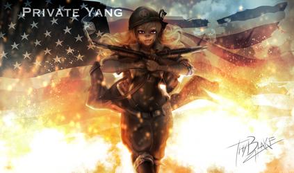 RWBY [WW2 Nations] USA - Yang by ThyBlake