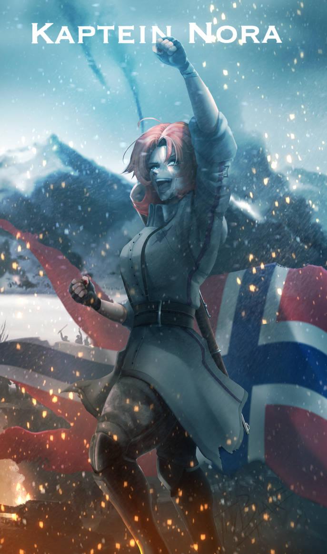 RWBY [WW2 Nations] Norway - Nora by ThyBlake