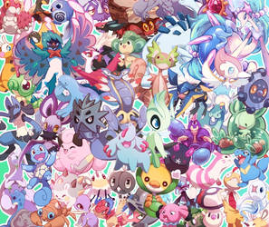 Pokemon Pile by ground-lion