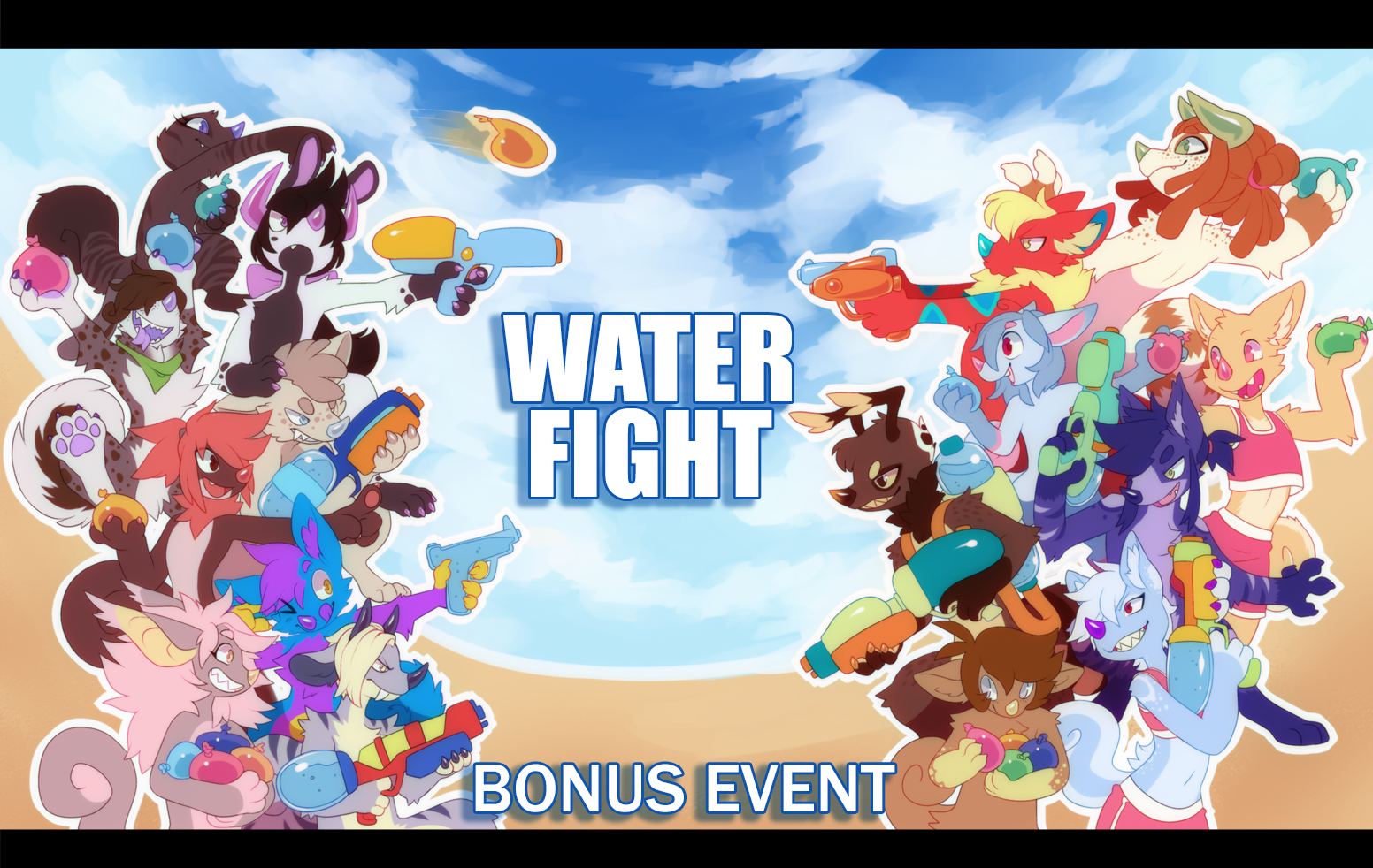 -CLOSED- BONUS EVENT: Water Fight by ground-lion