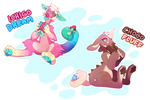 *AB added*Sweet Treat Chimereon Duo -CLOSED- by ground-lion