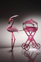 Ringo the flamingo by kay-of-doom