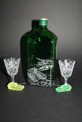 Tank Engraved Bottle and Glasses Set by kay-of-doom