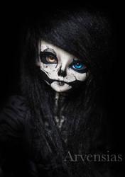 BJD Skull faceup by Arvensias