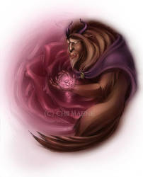The Beast and His Rose Color by DarkMousysMinion