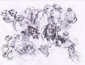 Tree of Life Sketches by DarkMousysMinion