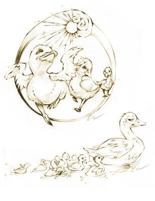 Duckies! (Sketch) by DarkMousysMinion