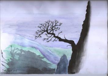 Inktober 14 tree by duh-veed