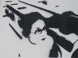 Laundry Mat Stencil by paulieslim