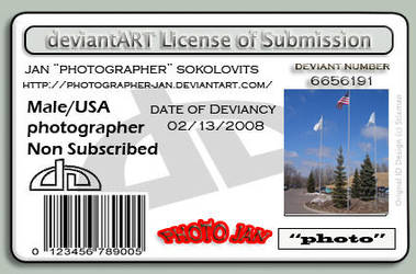 my deviant license by photographer-jan