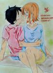 Draw#18 - Always with you (Luffy x Nami) by DARKNEBULA85