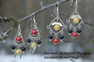 Quidditch earrings prototype by NaimaAldarion