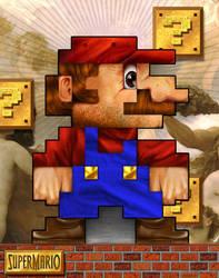 Super Mario 8Bit by jimiyo