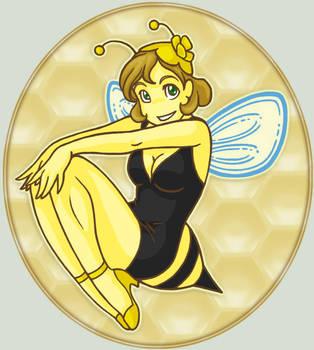 Bumble Bee Pinup Girl by ArtistMeli