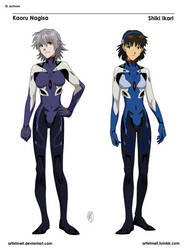 Nagisa and Ikari by ArtistMeli