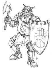 Dwarven Warrior by ArtistMeli