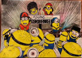 hip hop minion party by Brotistic