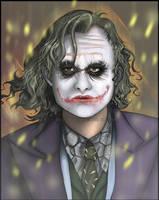 TDK. joker portrait by Leen-galeas