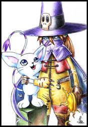 Wizardmon and Gatomon by Leen-galeas