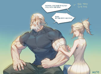 Overwatch] Reinhardt : MERCY by Haje714