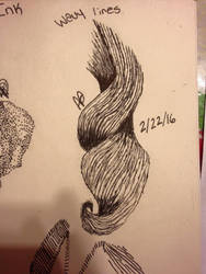 .:Pen and Ink:. Wavy Lines Hair Curl by TheWayLifeShouldBe
