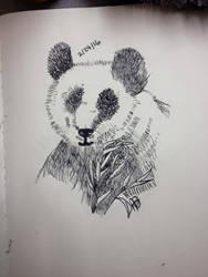 .:Pen and Ink:. Panda by TheWayLifeShouldBe