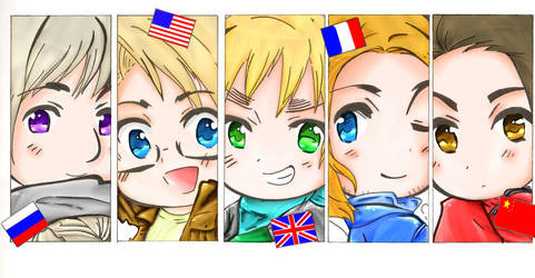 Hetalia Lineart Colored by carlyboo11