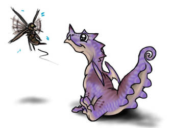 Chibi Monster Hunter Chameleos by DarkmaneTheWerewolf
