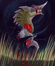 Creepy Monster Hunter - Chameleos by DarkmaneTheWerewolf