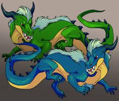 Dragons by DarkmaneTheWerewolf