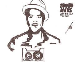 Bruno Mars: NEW SINGLE drawing by Thbio