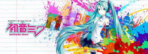 Hatsune Miku (HD) Wallpaper by AniEzer