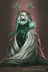 ConceptArtistRPG Day 8 Boss - Forest Witch by Kika-alf