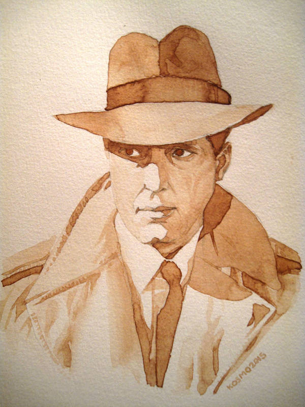 Humphrey Bogart Coffee Painting by kevinkosmo