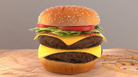 CGI Burger by kevinkosmo
