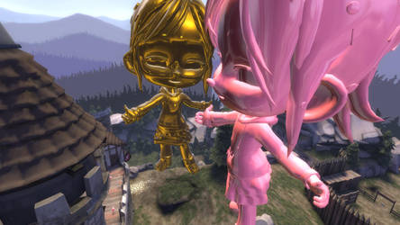 Attack of the Giant Vanellope Statues by emmanu888