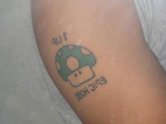 1UP Mushroom Tattoo by Fakiezero