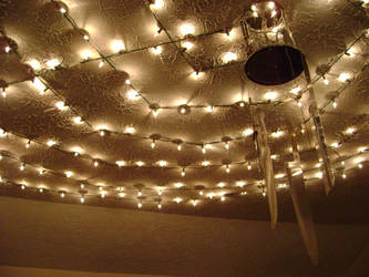 Ceiling knives and lights by Heartion