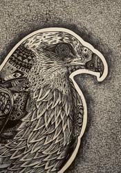 Native Symbols of the hawk by EdwardElricFan