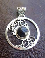 Night Swirls pendant by GeshaR